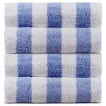 100% Cotton Luxury Cabana Hotel 4-Pack Beach Towel