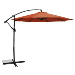 Ace Evert 10′ Polyester Offset Patio Umbrella