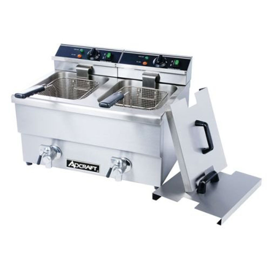 Adcraft Countertop Double Tank Commercial Deep Fryer