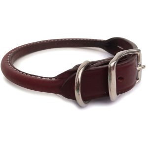 Auburn Leathercrafter's Rolled Leather Dog Collar