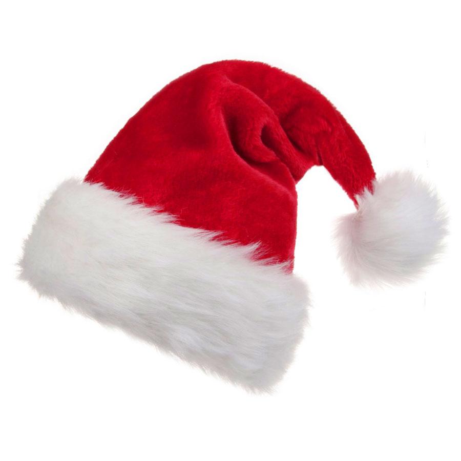 B-Land Unisex Soft Plush Santa Hat