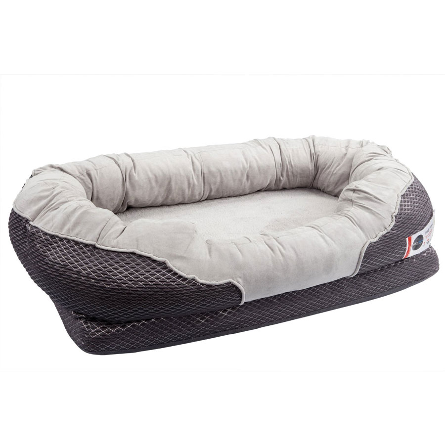 BarksBar Gray Orthopedic Foam Snuggly Sleeper Dog Bed