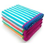 Ben Kaufman Velour Racing Stripe 4-Pack Beach Towel