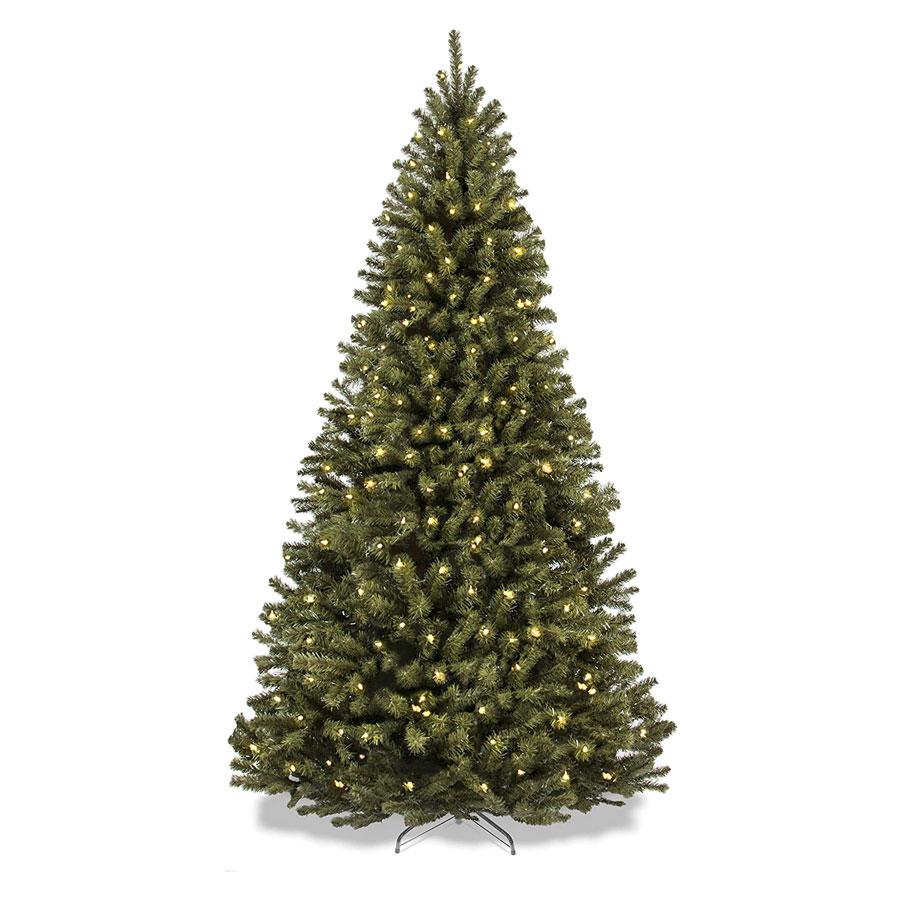 Best Choice Products Spruce Hinged Pre-Lit Artificial Christmas Tree