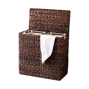BirdRock Home Oversized Divided Woven Laundry Basket