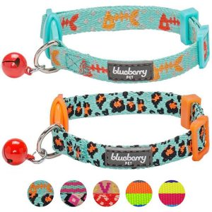 Blueberry Pet Multiple Designs Adjustable Cat Collar