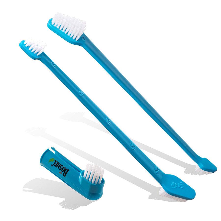 Boshel Dual Headed & Finger Pack Dog Toothbrush