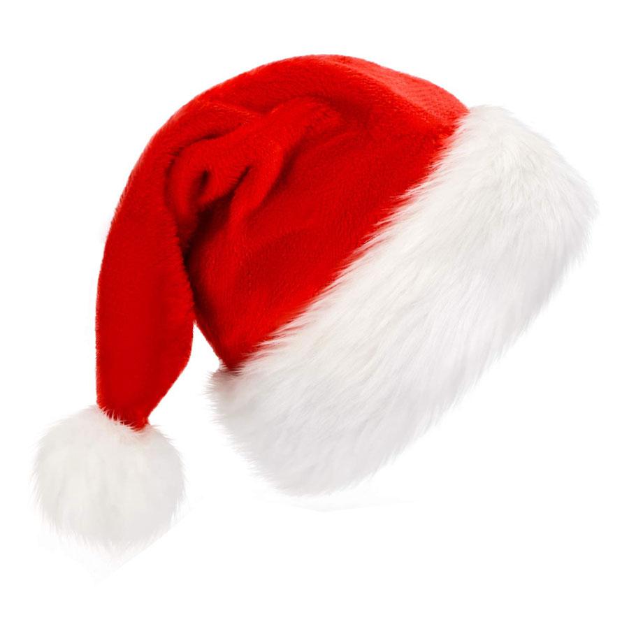 Bosoner Unisex Faux Fur Santa Hat