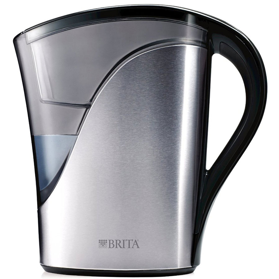 Brita 8 Cup Stainless Steel Water Filter Pitcher
