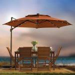 Cabana Way 11′ Cantilever Patio Umbrella, Solar Lights