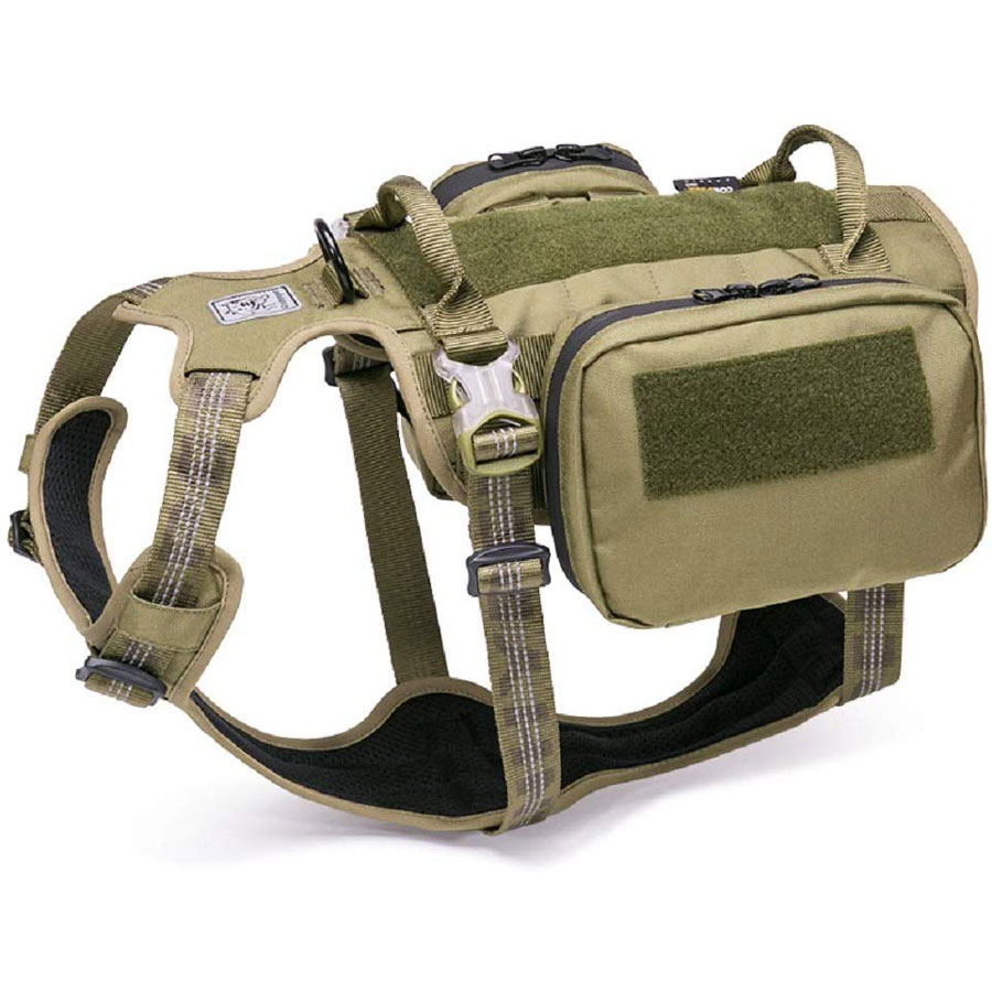Chai's Choice Military Dog Backpack