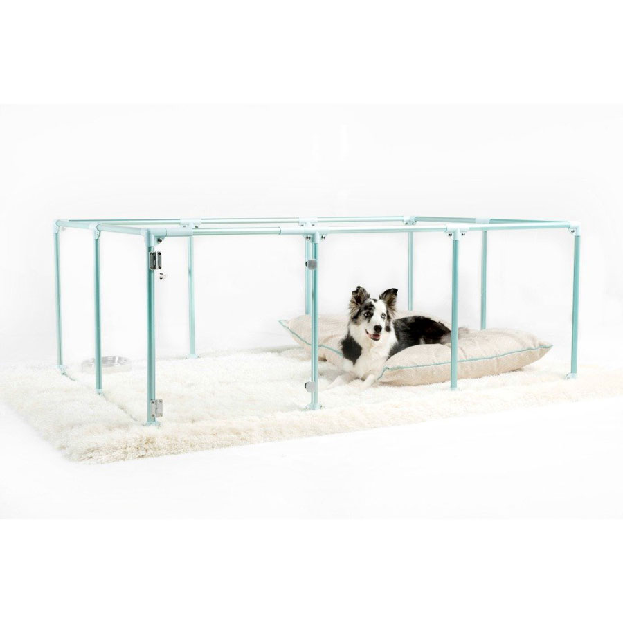 Clearly Loved Pets Lucidium Modern Dog Playpen