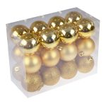 Clever Creations 24-Pack Christmas Ball Ornaments