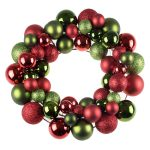 Clever Creations Bright Red & Green Christmas Wreath