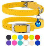 CollarDirect Elastic Strap Breakaway Leather Cat Collar