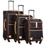 Coolife Luggage 3-Piece Softshell Luggage Set