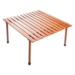 BCP Wood Roll Up Portable Beach Table