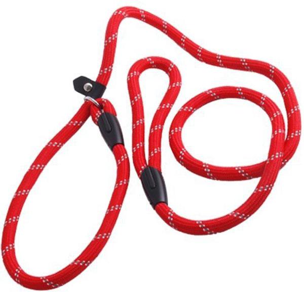 Facilla Red Nylon Adjustable Loop Basic Dog Leash