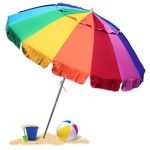 Giant Rainbow Sand Anchor 8′ Beach Umbrella