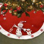 Gift Boutique Elegant Red Christmas Tree Skirt