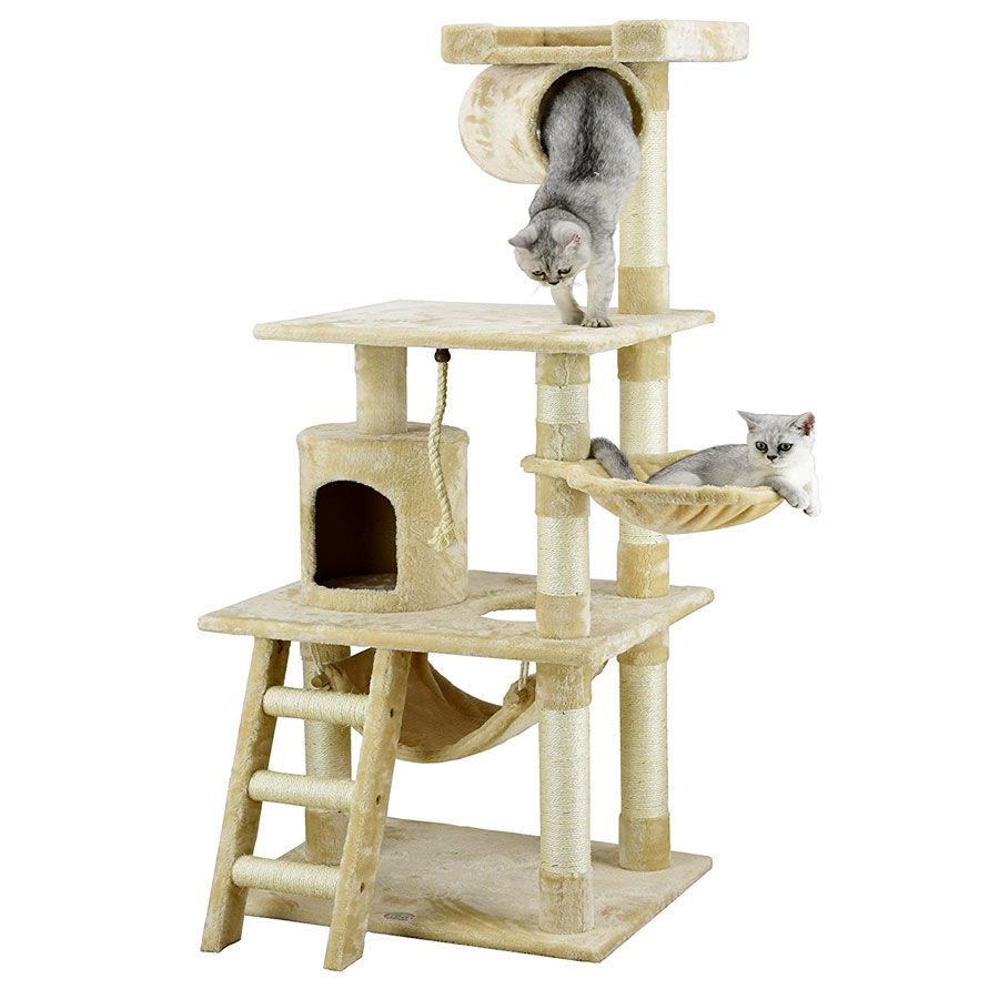 Go Pet Club 62-Inch Furniture Cat Tree