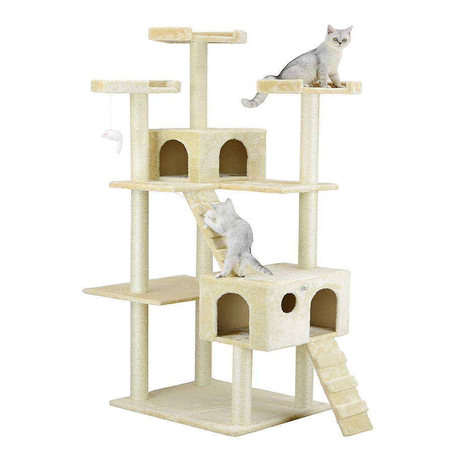 Go Pet Club 72-Inch Condo Play House Cat Tree