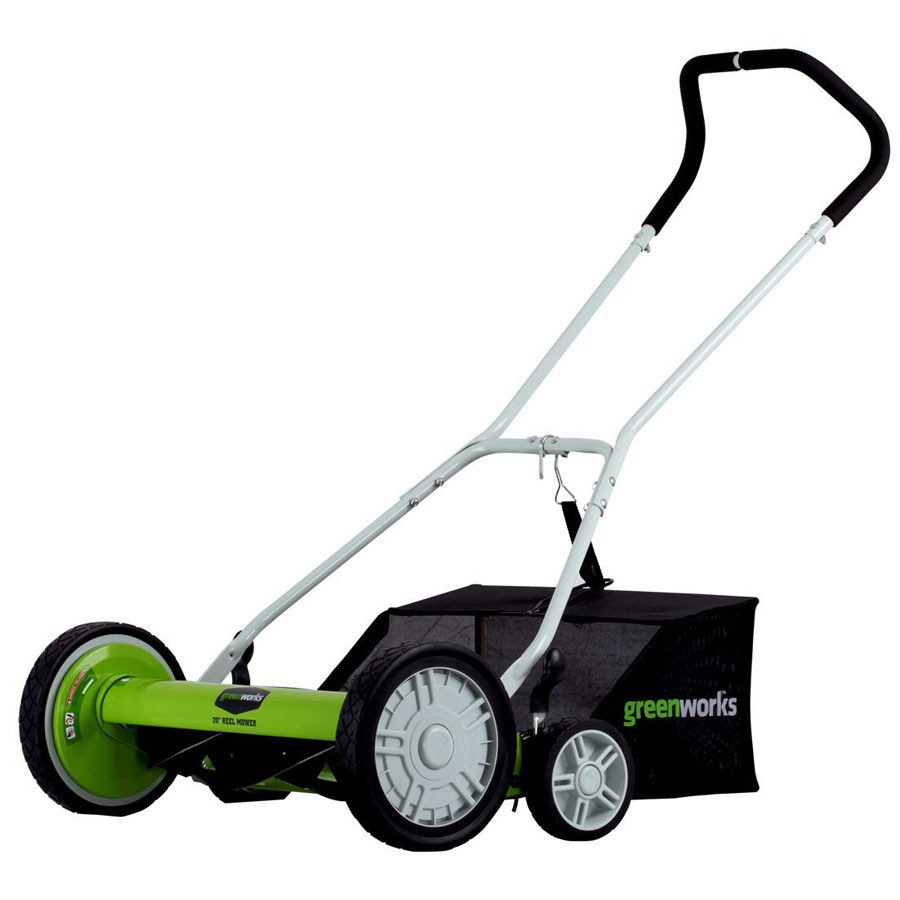 Greenworks 25072 20-Inch Push Reel Lawn Mower