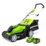Greenworks MO40B411 40V Cordless 17-Inch Electric Lawn Mower