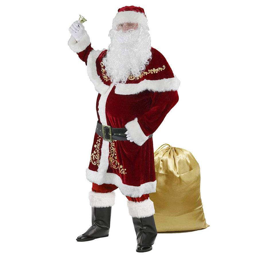 Halfjuly Deluxe Set Velvet Santa Suit