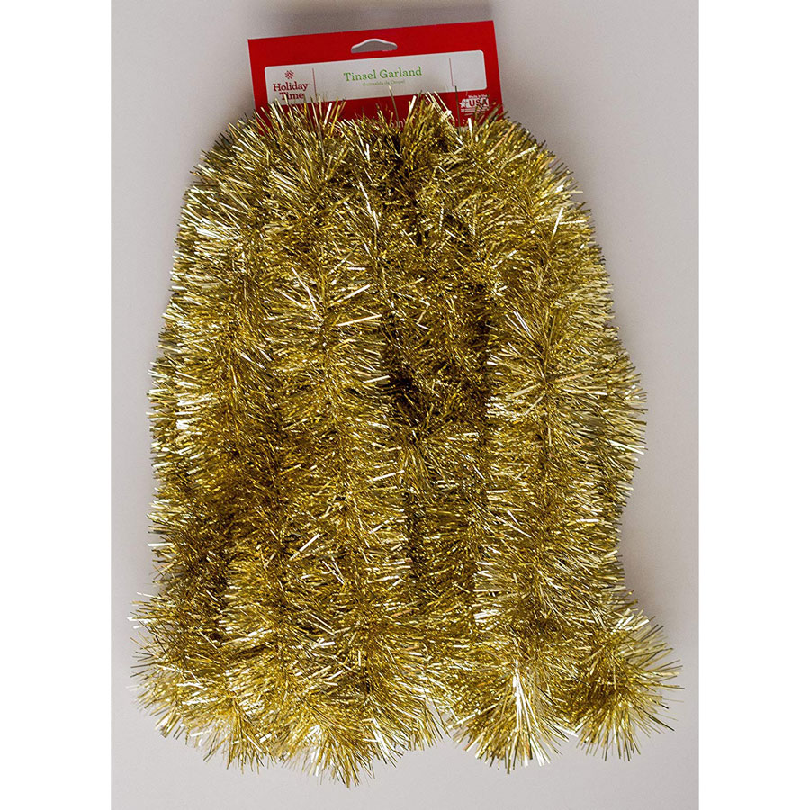 Holiday Times Non-Lit Thick Tinsel Christmas Garland