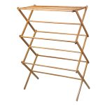 Home-it Bamboo Heavy-Duty Clothes Drying Rack