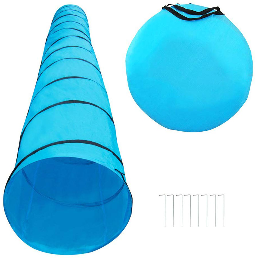 Houseables Foldable Polyester Dog Agility Tunnel