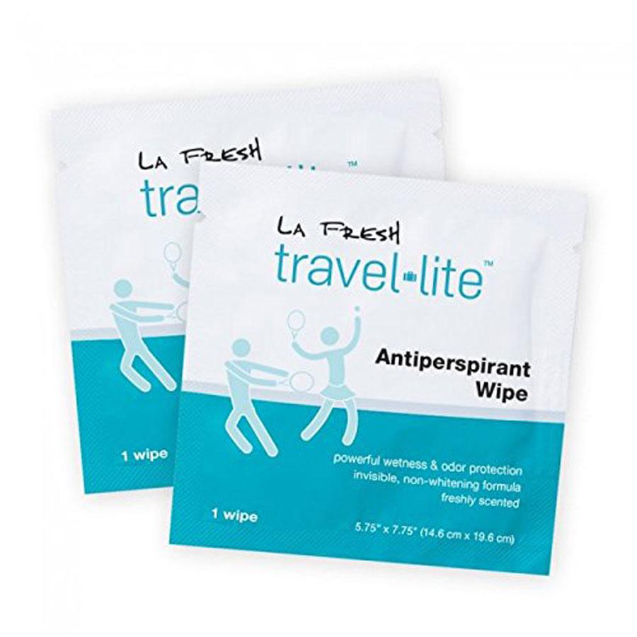 La Fresh Travel Lite Antiperspirant Wipes for Men & Women