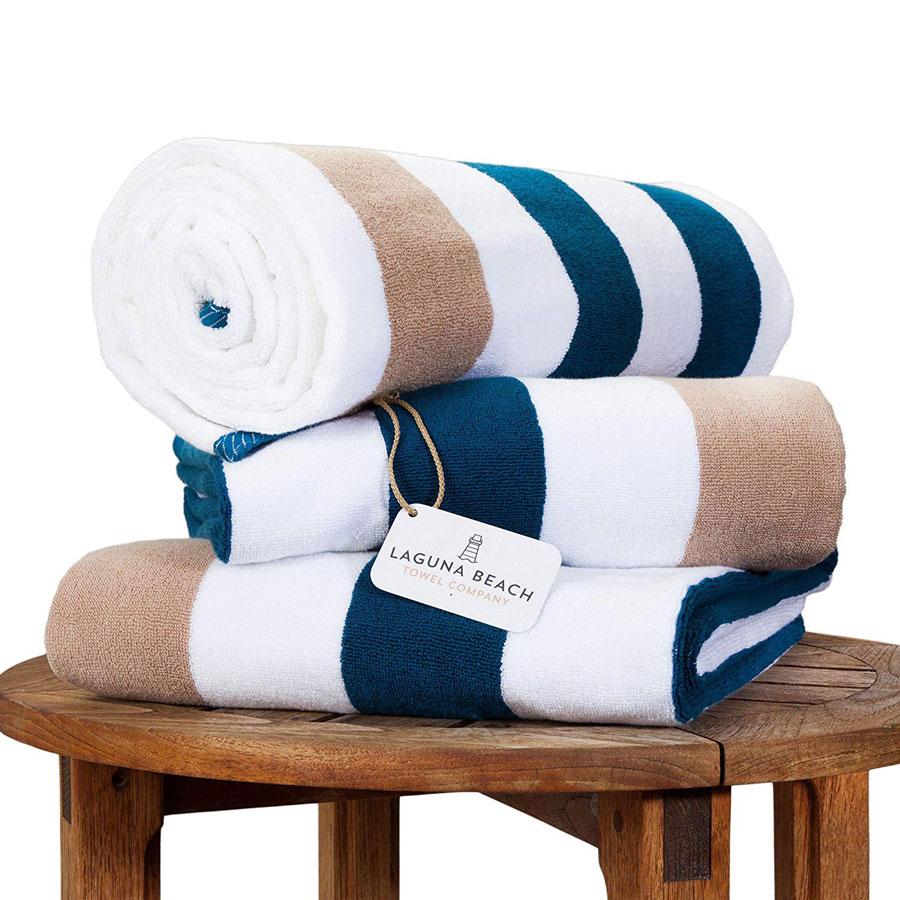 Laguna Beach Textile Oversize Plush Beach Towel