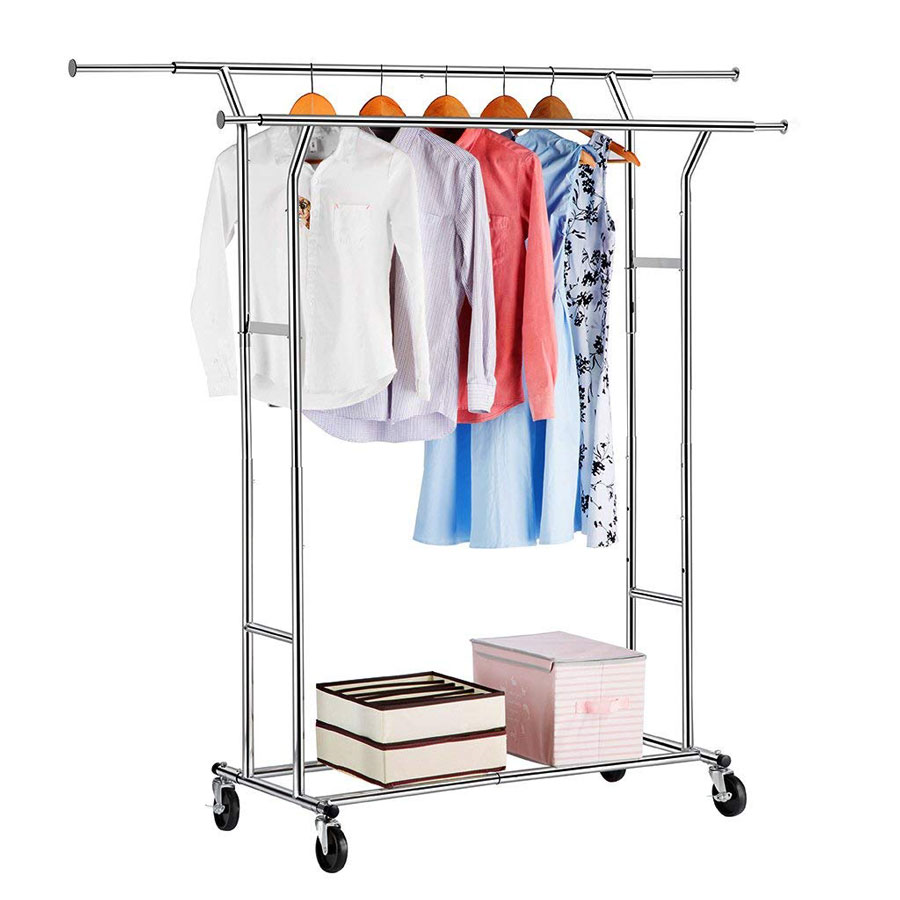 Langria Double Rail Commercial Grade Clothes Rack