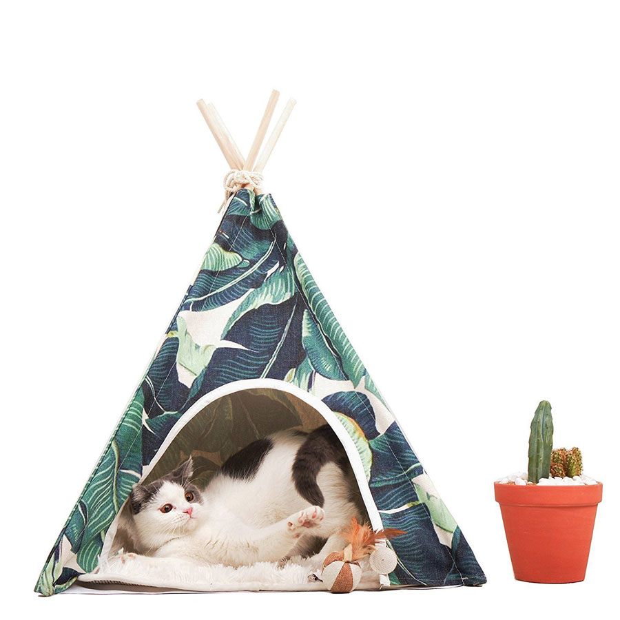 Little Dove Indian Teepee House Cat Bed