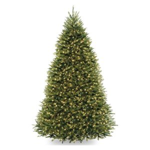 National Tree Dunhill Fir Pre-lit Artificial Christmas Tree