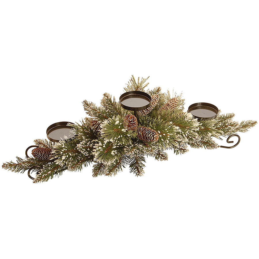 National Tree Glittery Pine Christmas Table Centerpiece