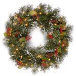 National Tree Wintry Pine Red Berries Christmas Wreath