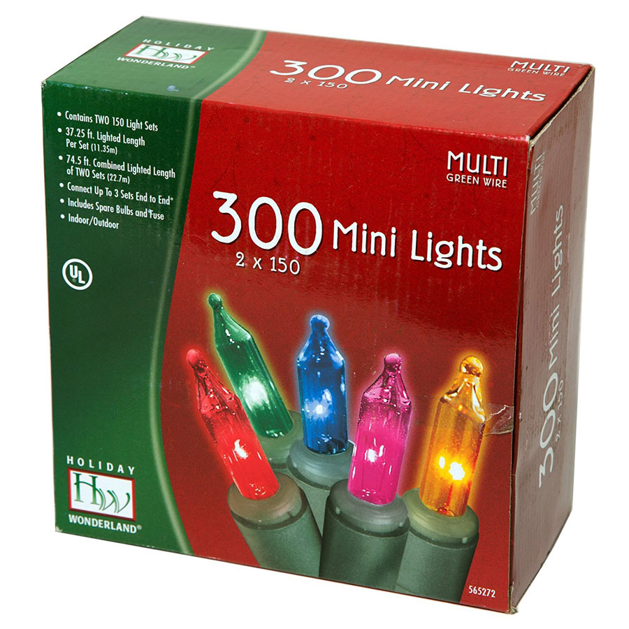 Noma/Inliten 300-Count Multicolor Christmas Lights