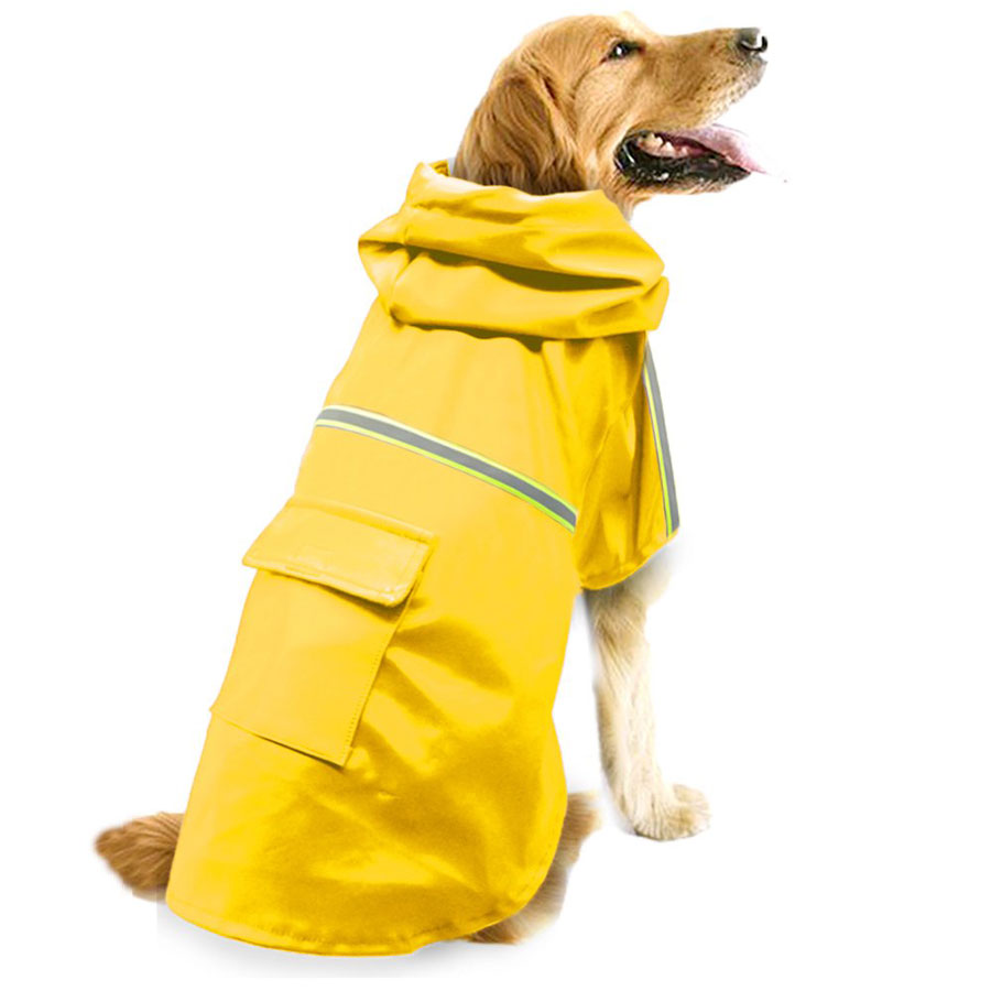 Okdeals Waterproof Lightweight Dog Raincoat