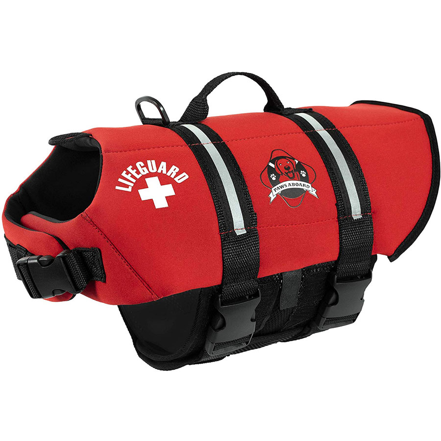 Paws Aboard XXS-to-XL Boating Swimming Dog Life Jacket