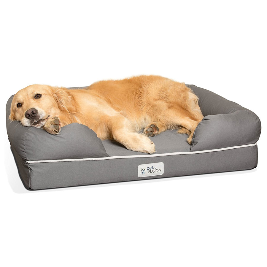PetFusion Ultimate Premium Solid Memory Foam Dog Bed