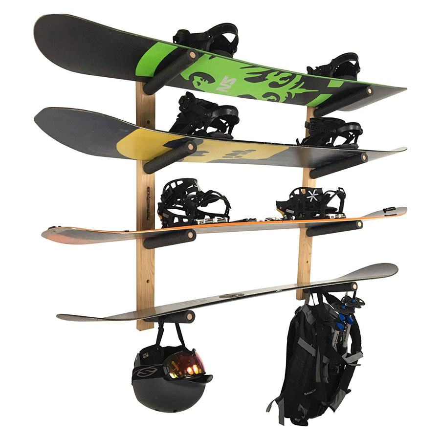 Pro Board Racks Padded Snowboard Wall Mount