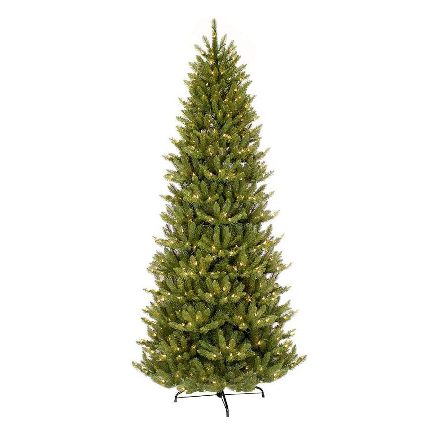 Puleo International Slim Fraser Fir Pre-Lit Artificial Christmas Tree