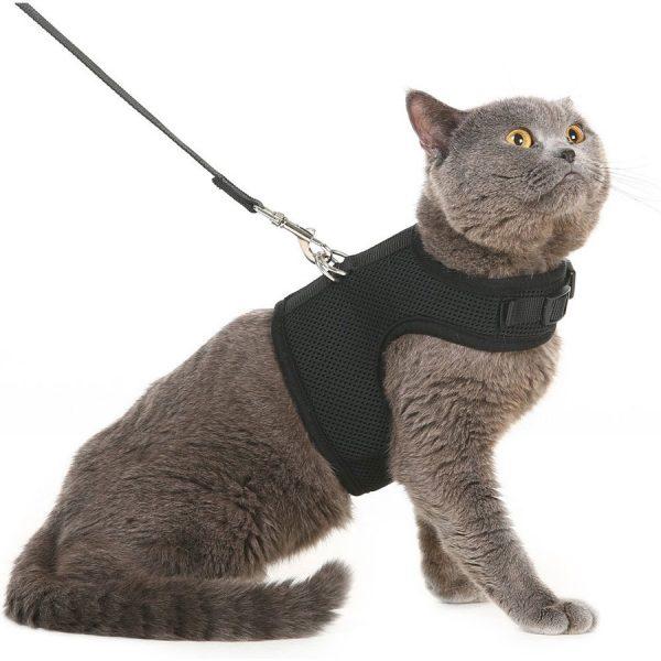 Yizhi Miaow Escape Proof Kitten Harness with Leash X-Small Adjustable Kitten Walking Jackets Padded Kitten Vest Camo
