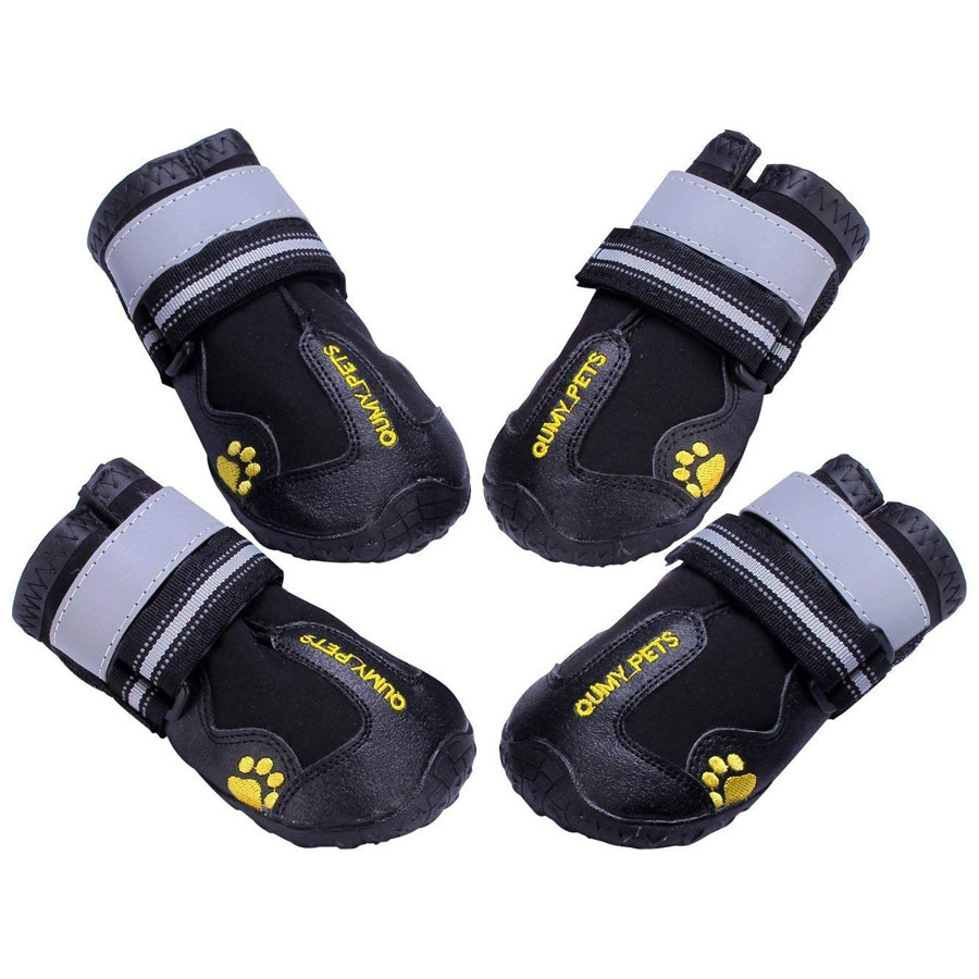 Qumy Reflective Waterproof Dog Boots