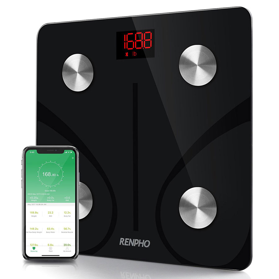 Renpho FDA-Approved Bluetooth Smart Body Fat Bathroom Scale