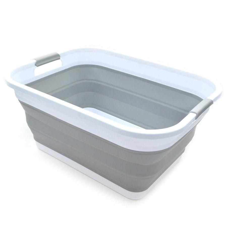 Sammart Collapsible Plastic Pop-Up Laundry Basket