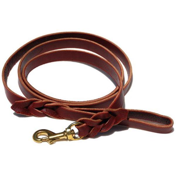 Signature K9 Braided Leather Basic Dog Leash